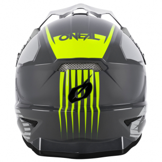 ONeal 1 Series Stream Grey Neon Yellow Motocross Helmet Image 2