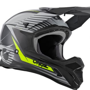ONeal 1 Series Stream Grey Neon Yellow Motocross Helmet Image 3