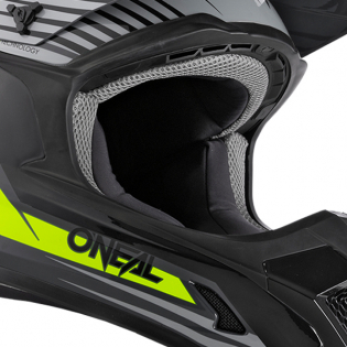 ONeal 1 Series Stream Grey Neon Yellow Motocross Helmet Image 4
