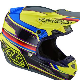 Troy Lee Designs SE4 Composite Helmet - Speed Yellow Grey Image 2