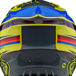 Troy Lee Designs SE4 Composite Helmet - Speed Yellow Grey Image 3