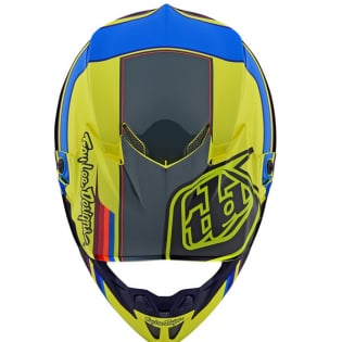Troy Lee Designs SE4 Composite Helmet - Speed Yellow Grey Image 4