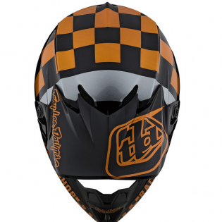 Troy Lee Designs SE4 Checker Black Gold Polyacrylite Helmet Image 4