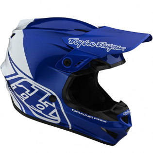 Troy Lee Designs GP Block Blue White Helmet Image 2