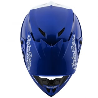 Troy Lee Designs GP Block Blue White Helmet Image 4