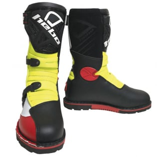 Hebo Tech 2.0 Micro Black Red Lime Trials Boots Image 2