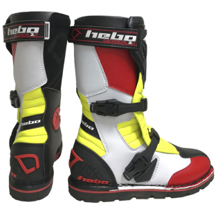 Hebo Tech 2.0 Micro Black Red Lime Trials Boots Image 3