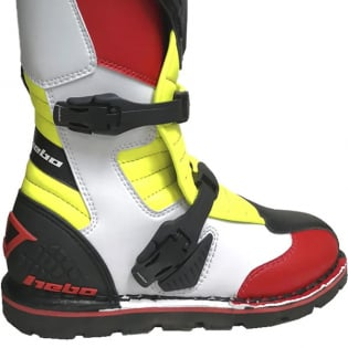 Hebo Tech 2.0 Micro Black Red Lime Trials Boots Image 4