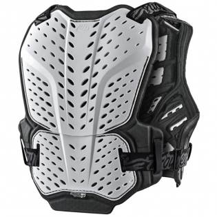 Troy Lee Designs Rock Fight White Chest Protector Image 2