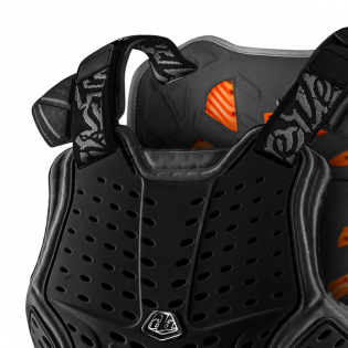 Troy Lee Designs Rock Fight CE Black Chest Protector Image 4
