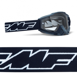 100% FMF Powerbomb Enduro Rocket Black Clear Lens Goggles Image 3