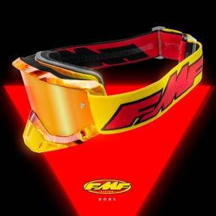 100% FMF Powerbomb Enduro Rocket Yellow Clear Lens Goggles Image 2