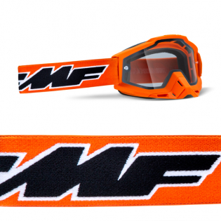 100% FMF Powerbomb Enduro Rocket Yellow Clear Lens Goggles Image 3