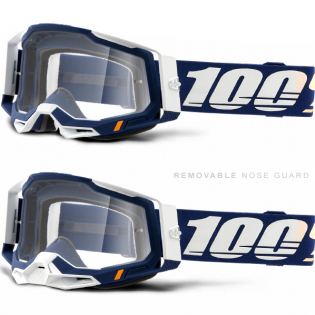 100% Racecraft 2 Concordia Clear Lens Goggles Image 3
