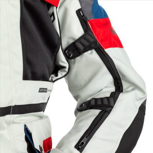RST Pro Series X Airbag Textile Ice Blue Red Jacket Image 2