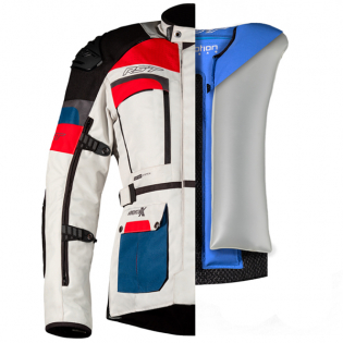 RST Pro Series X Airbag Textile Ice Blue Red Jacket Image 4