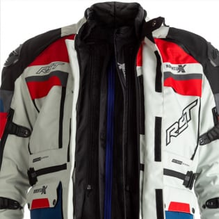 RST Pro Series Adventure - X CE Textile Ice Blue Red Jacket Image 2