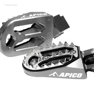 Apico Pro Bite Anodised Wide Foot Pegs - GasGas Red Image 3