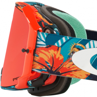 Oakley Airbrake Troy Lee Cosmic Jungle Blue Prizm Trail Torch MTB Goggles Image 4