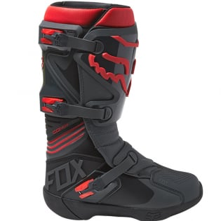 Fox Racing Black Red Comp Motocross Boots Image 2