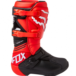 Fox Racing Youth Flou Red Comp Motocross Boots Image 2