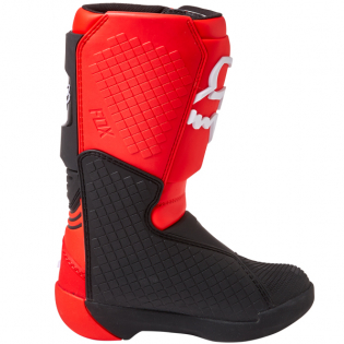 Fox Racing Youth Flou Red Comp Motocross Boots Image 3