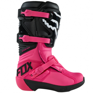 Fox Racing Youth Black Pink Comp Motocross Boots Image 2