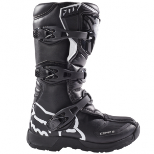 Fox Racing Youth Black Comp 3Y Motocross Boots Image 2