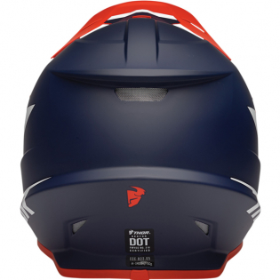Thor Sector Chev Red Navy Helmet Image 2