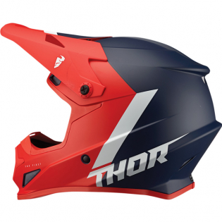 Thor Sector Chev Red Navy Helmet Image 3