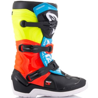 Alpinestars Youth Boots Tech 3S - Black Yellow Fluo Red Fluo Image 2
