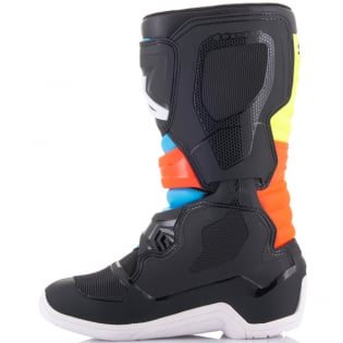 Alpinestars Youth Boots Tech 3S - Black Yellow Fluo Red Fluo Image 3