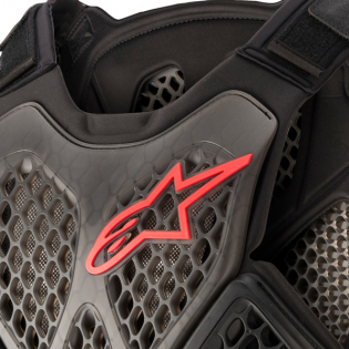 Alpinestars A6 Black Anthracite Red Chest Protector Image 2