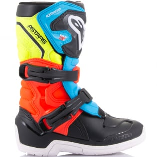 Alpinestars Kids Boots Tech 3S - Black Yellow Fluo Red Fluo Image 2
