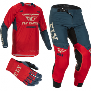 Fly Racing Evolution DST Red Grey Kit Combo Image 2