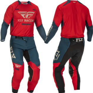 Fly Racing Evolution DST Red Grey Kit Combo Image 4