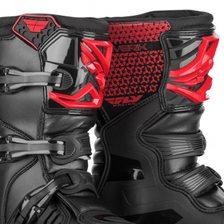 Fly Racing Maverik Youth Kids Red Black Boots Image 2