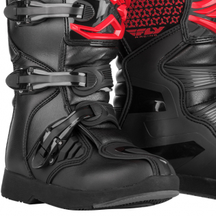 Fly Racing Maverik Youth Kids Red Black Boots Image 4