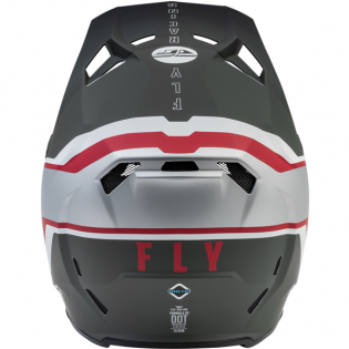 Fly Racing Formula CC Driver Silver Red White Helmet Image 2