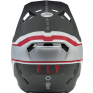 Fly Racing Formula CC Driver Silver Red White Helmet