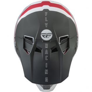 Fly Racing Formula CC Driver Silver Red White Helmet Image 4