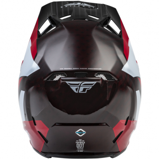 Fly Racing Formula Carbon Prime Red White Red Carbon Helmet Image 2