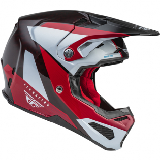 Fly Racing Formula Carbon Prime Red White Red Carbon Helmet Image 3