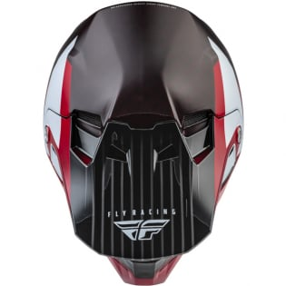 Fly Racing Formula Carbon Prime Red White Red Carbon Helmet Image 4