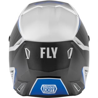 Fly Racing Youth Kinetic Drift Blue Charcoal White Helmet Image 2