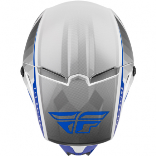 Fly Racing Youth Kinetic Drift Blue Charcoal White Helmet Image 4