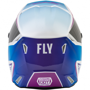 Fly Racing Youth Kinetic Drift Pink White Blue Helmet Image 2