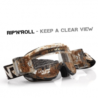 Rip n Roll Hybrid XL Roll Off Goggles - Brilliant Red Image 2