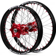 SM Pro Platinum Motocross Wheel Set - Honda Red Black Red