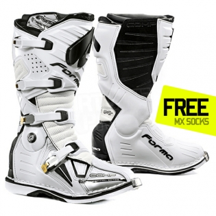 Forma Dominator Comp Motocross Boots - White